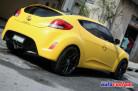 Hyundai Veloster amarelo - envelopamento líquido