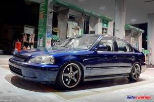 Honda Civic LX 1999 rebaixado, azul, aro 17