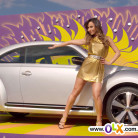 OLX Sabrina Sato vende New Beetle (Fusca) prata - classificado-gratis