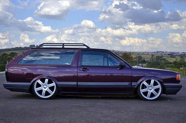 VW Parati 1993 GL vinho rebaixada aro 17