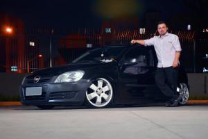 Celta Life 2010 aro 17 e suspensão fixa no limite! Andrey Felipe
