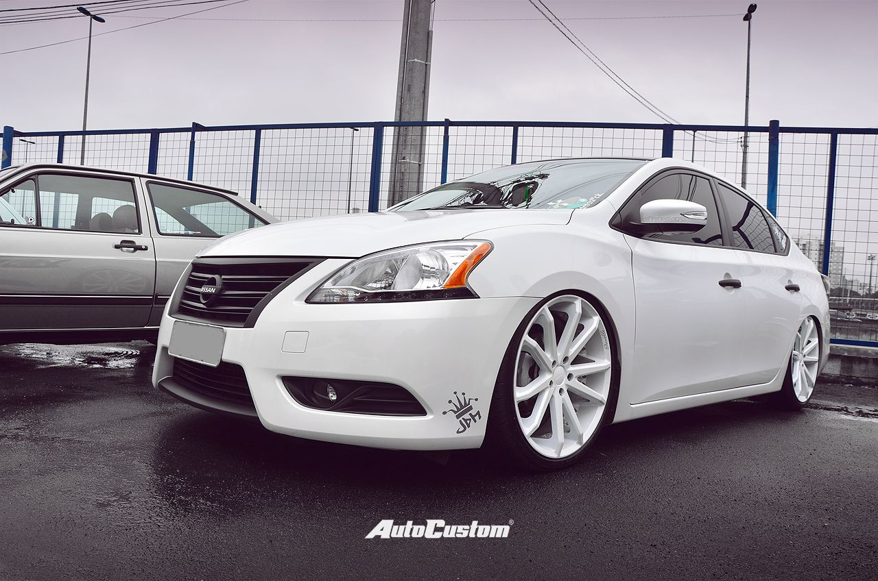 Nissan Sentra - Anos 10, Aro 20, Películas escuras, Rodas ...