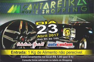 Agenda: 23 abril 2017 no Cantareira Norte Shopping