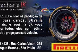 PIRELLI A Pirelli Pneus é uma empresa italiana, que atua desde 1872 no setor de pneus, sendo a pioneira na fabricação e comercialização de pneus. Referência mundial, os pneus Pirelli possuem sofisticação em sua fabricação, o que despertou a atenção de milhares de pilotos ao redor do mundo.  A empresa também atua em outras áreas, porém os pneus continuam sendo o carro chefe da empresa. Por ser 'queridinho' entre os condutores de veículos, a Borracharia JK não poderia deixar de comercializar pneus dessa grande marca.